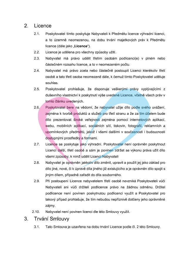 Licenční smlouva, strana 2