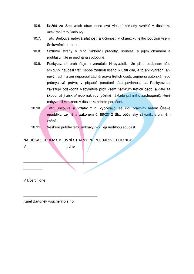 Licenční smlouva, strana 5