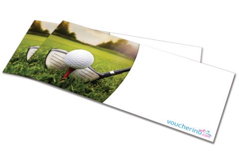 šablona dárkový poukaz golf