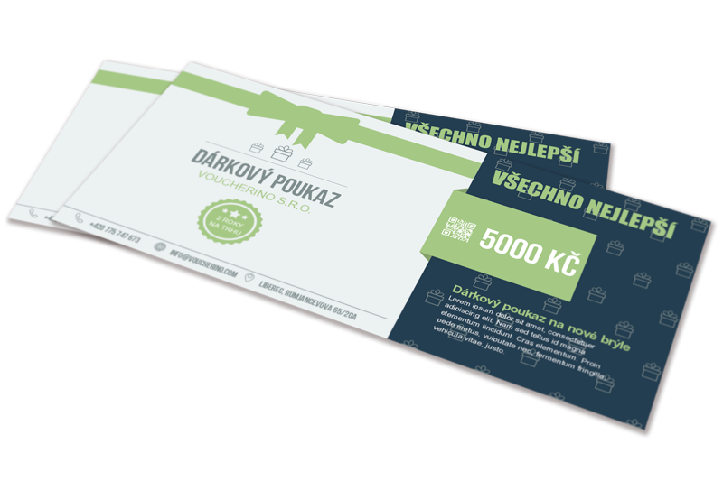 Stylové dárkové poukazy pro vaše podnikání | Voucherino.com